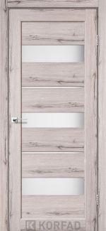 Межкомнатные двери Porto PR-12 Корфад дуб нордик стекло Сатин