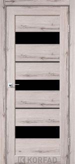 Межкомнатные двери Porto PR-12 Корфад дуб нордик стекло черное