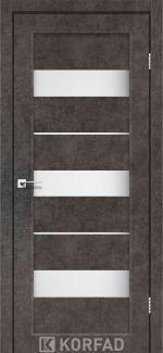 Межкомнатные двери Porto PR-12 Корфад лофт бетон стекло Сатин