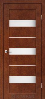 Межкомнатные двери Porto PR-12 Корфад сталь кортен стекло Сатин