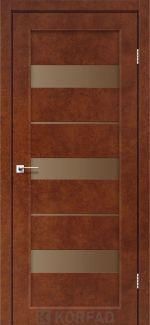 Межкомнатные двери Porto PR-12 Корфад сталь кортен стекло бронза