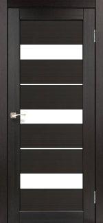 Межкомнатные двери Porto PR-12 Корфад венге стекло Сатин