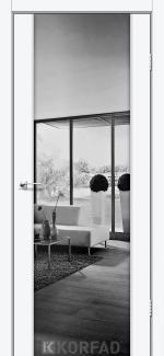 Межкомнатные двери Двери Sanremo SR-01 Корфад белый перламутр 2-стороннее Триплекс зеркало графит
