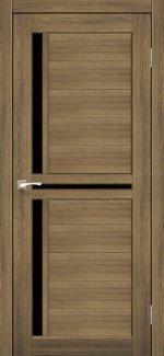 Двери Scalea SC-04 дуб браш стекло черное