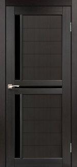 Двери Корфад Scalea SC-04 венге стекло черное