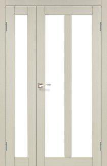 Двери Torino TR-04 Корфад Беленый Дуб со стеклом