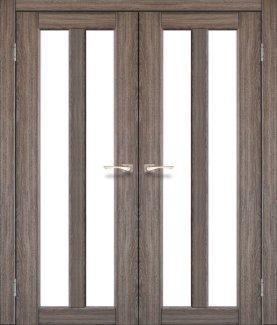 Двери Torino TR-05 Корфад Дуб Грей со стеклом