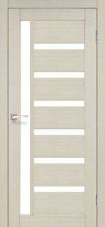 Межкомнатные двери Двери Valentino VL-01 Корфад беленый дуб стекло Сатин
