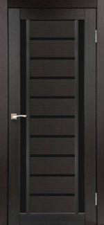 Двери Корфад Valentino Deluxe VLD-03 венге стекло черное