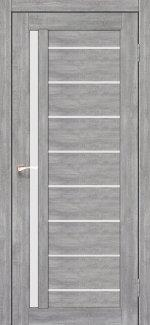 Межкомнатные двери Двери Venecia Deluxe VND-02 Корфад эш вайт стекло Сатин