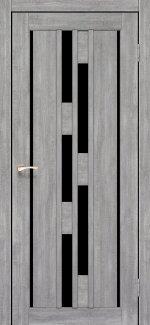 Двері Venecia Deluxe VND-05 Эш Вайт скло чорне