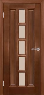 Двери Турин Галерея мокко со стеклом Сатин