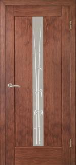 Межкомнатные двери Двері Ланда НСД каштан зі склом