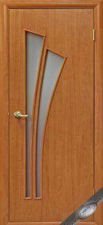 Двери Лилия Новый Стиль ольха 3D со стеклом Сатин
