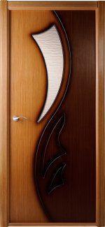 Двери Лилия BelWoodDoors дуб-орех под стекло