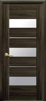 Двери Лилу Новый Стиль кедр со стеклом Сатин