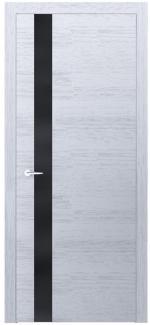 Межкомнатные двери Двери Loft Berta VS Родос белый дуб с черным стеклом