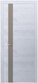 Межкомнатные двери Двери Loft Berta VS Родос белый дуб со стеклом латте