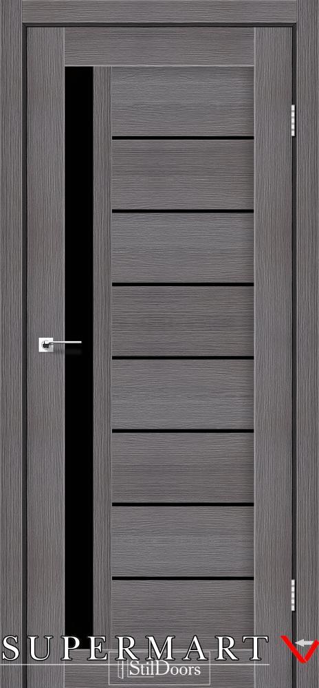Межкомнатные двери Двери London StilDoors дрим вуд стекло черное