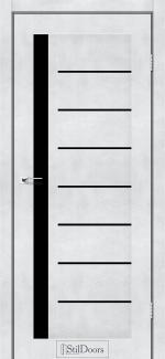 Межкомнатные двери Двери London StilDoors светлый бетон стекло черное