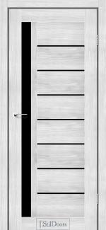 Межкомнатные двери Двери London StilDoors сандал стекло черное