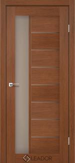 Межкомнатные двери Lorenza Леадор браун стекло Бронза