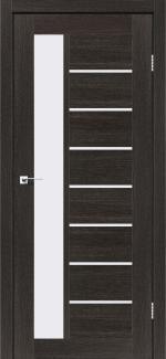 Межкомнатные двери Двері Lorenza Леадор дуб саксонський скло Сатін