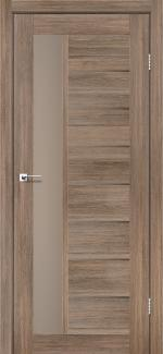 Межкомнатные двери Lorenza Леадор серое дерево стекло Бронза