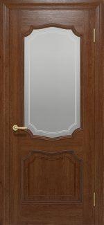 Межкомнатные двери Двері Луідор Статус Дорс темний горіх зі склом
