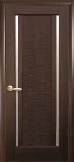 Двери Луиза Новый Стиль каштан со стеклом
