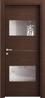 Межкомнатные двери Двері Манчестер-С НСД дуб графіт зі склом