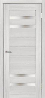 Межкомнатные двери Мастер 636 Дера сандал беленый со стеклом