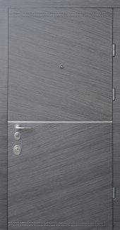 Двери Страж Мела венге серый горизонт / гладкая венге серый горизонт