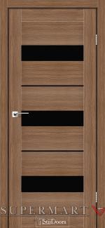 Межкомнатные двери Двери Mexico StilDoors итальянский орех стекло черное