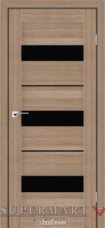 Межкомнатные двери Двери Mexico StilDoors ольха классическая стекло черное