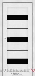 Межкомнатные двери Двери Mexico StilDoors белое дерево стекло черное