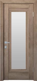 Межкомнатные двери Двери Милла Новый Стиль орех европейский стекло Сатин