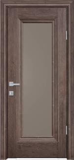 Межкомнатные двери Милла Новый Стиль орех норвежский стекло бронза