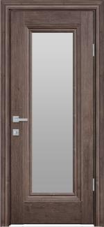 Межкомнатные двери Милла Новый Стиль орех норвежский стекло Сатин