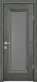 Межкомнатные двери Милла Новый Стиль орех сибирский стекло графит