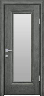 Межкомнатные двери Милла Новый Стиль орех сибирский стекло Сатин
