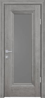 Межкомнатные двери Милла Новый Стиль орех скандинавский стекло графит