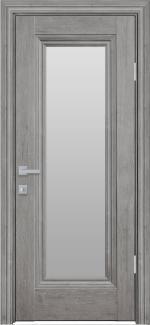 Межкомнатные двери Милла Новый Стиль орех скандинавский стекло Сатин