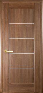 Двери Мира Новый Стиль золотая ольха Делюкс со стеклом Сатин