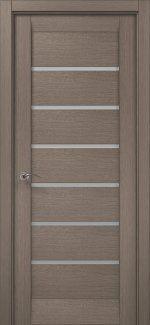 Межкомнатные двери ML-14c Папа Карло серый дуб со стеклом