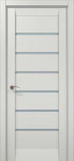 Межкомнатные двери ML-14c Папа Карло ясень белый со стеклом