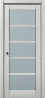 Двери ML-15c Папа Карло белый ясень со стеклом