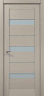 Межкомнатные двери ML-22c Папа Карло дуб крем стекло Сатин
