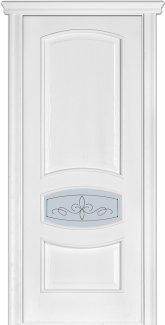 Двери Терминус Модель 50 Каро ясень белый эмаль со стеклом 02