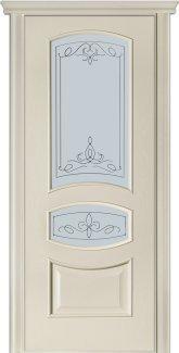 Двери Терминус Модель 50 Каро ясень crema эмаль со стеклом 03